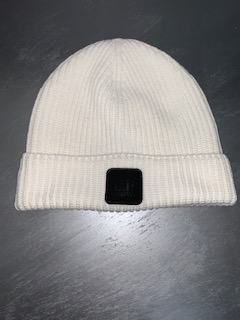 SHOPPING ON LINE CP COMPANY BERRETTO MERINO WOOL LOGO BADGE BEANIE NEW  COLLECTION MEN FALL WINTER 2020/2021-2