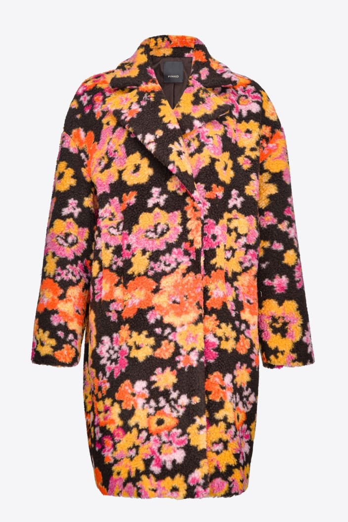 SHOPPING ON LINE PINKO CAPPOTTO COCOON A FIORI INNING 2 NEW COLLECTION WOMEN'S FALL/WINTER 2022