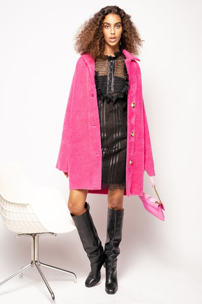 SHOPPING ON LINE PINKO CAPPOTTO COCOON FAUX FUR KERNER 1 NEW COLLECTION WOMEN'S FALL/WINTER 2022
