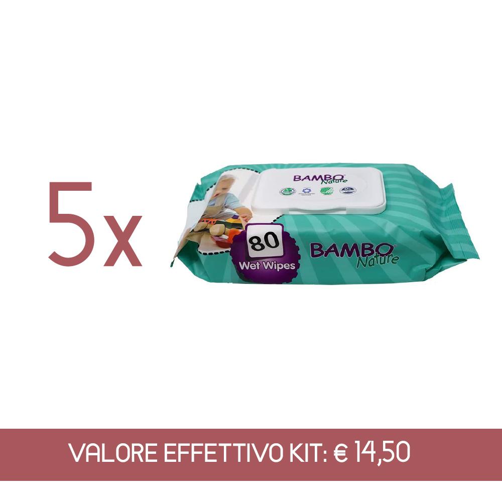 Kit Scorta Salviettine umidificate monouso anallergiche