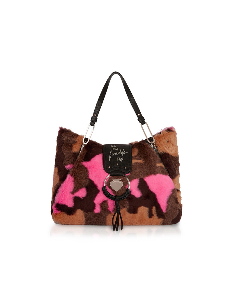 SHOPPING ON LINE LE PANDORINE VICKY FREDDO FUR CAMOUFLAGE NEW COLLECTION WOMEN'S FALL/WINTER 2022
