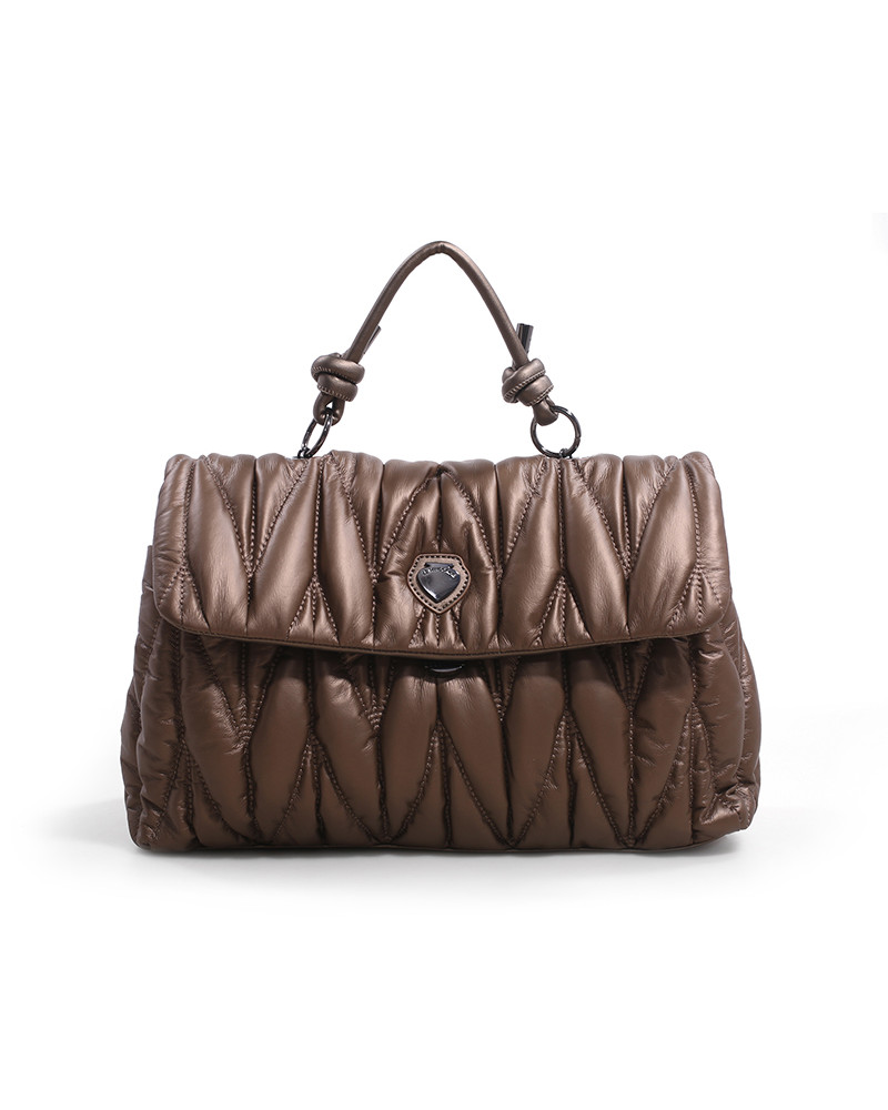 SHOPPING ON LINE LE PANDORINE CLAUDIA BAG LOVE BROWN NEW COLLECTION WOMEN'S FALL/WINTER 2022