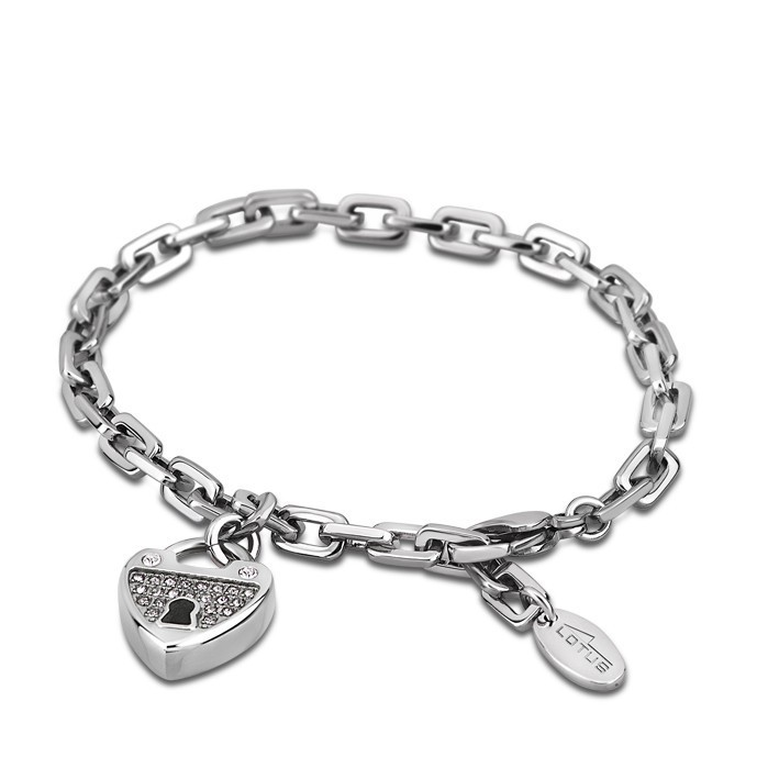 Bracciale donna in acciaio con pendente cuore Lotus LS1532-2/1