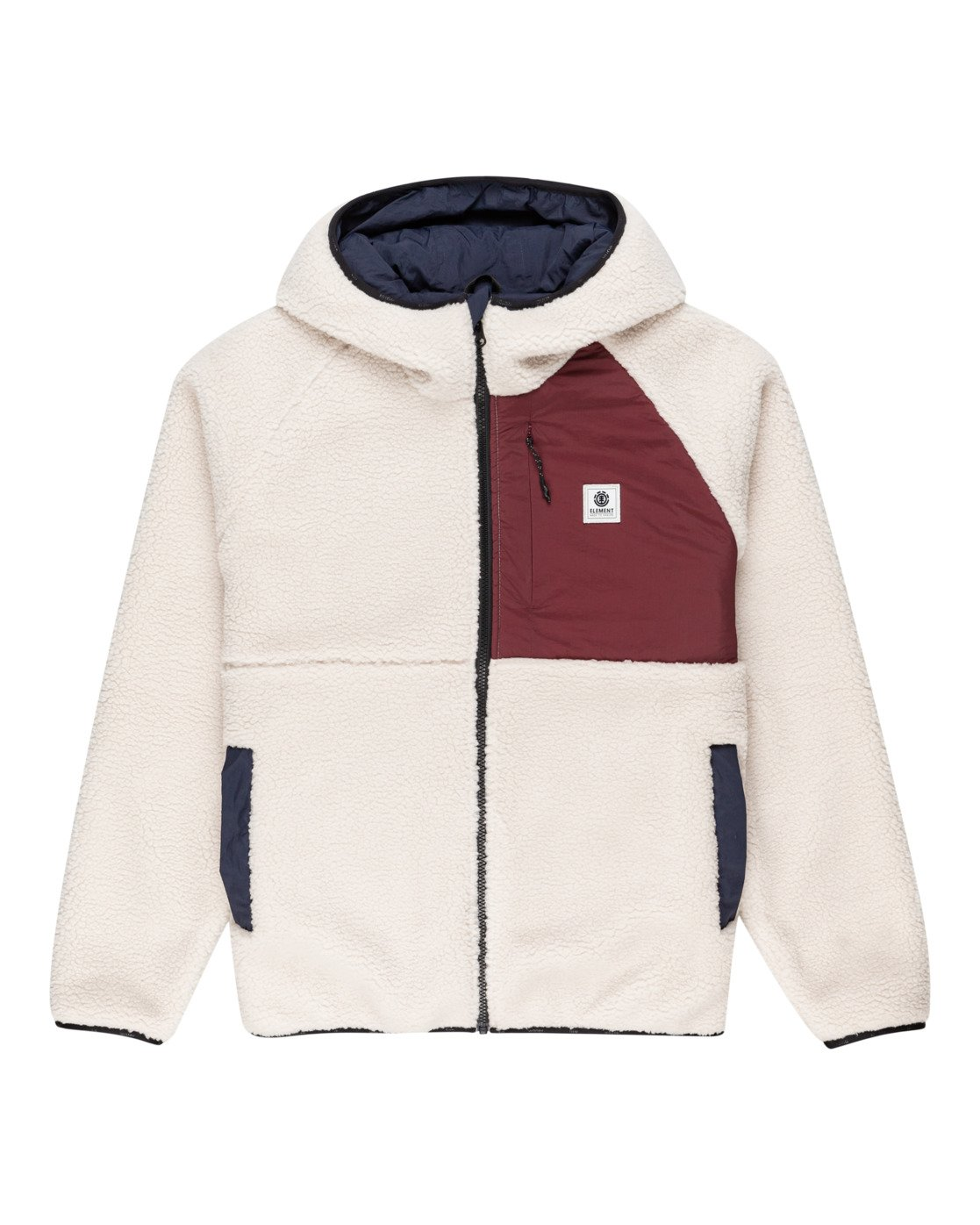 Giacca Element Wolfe Zip-Up White Doubleface