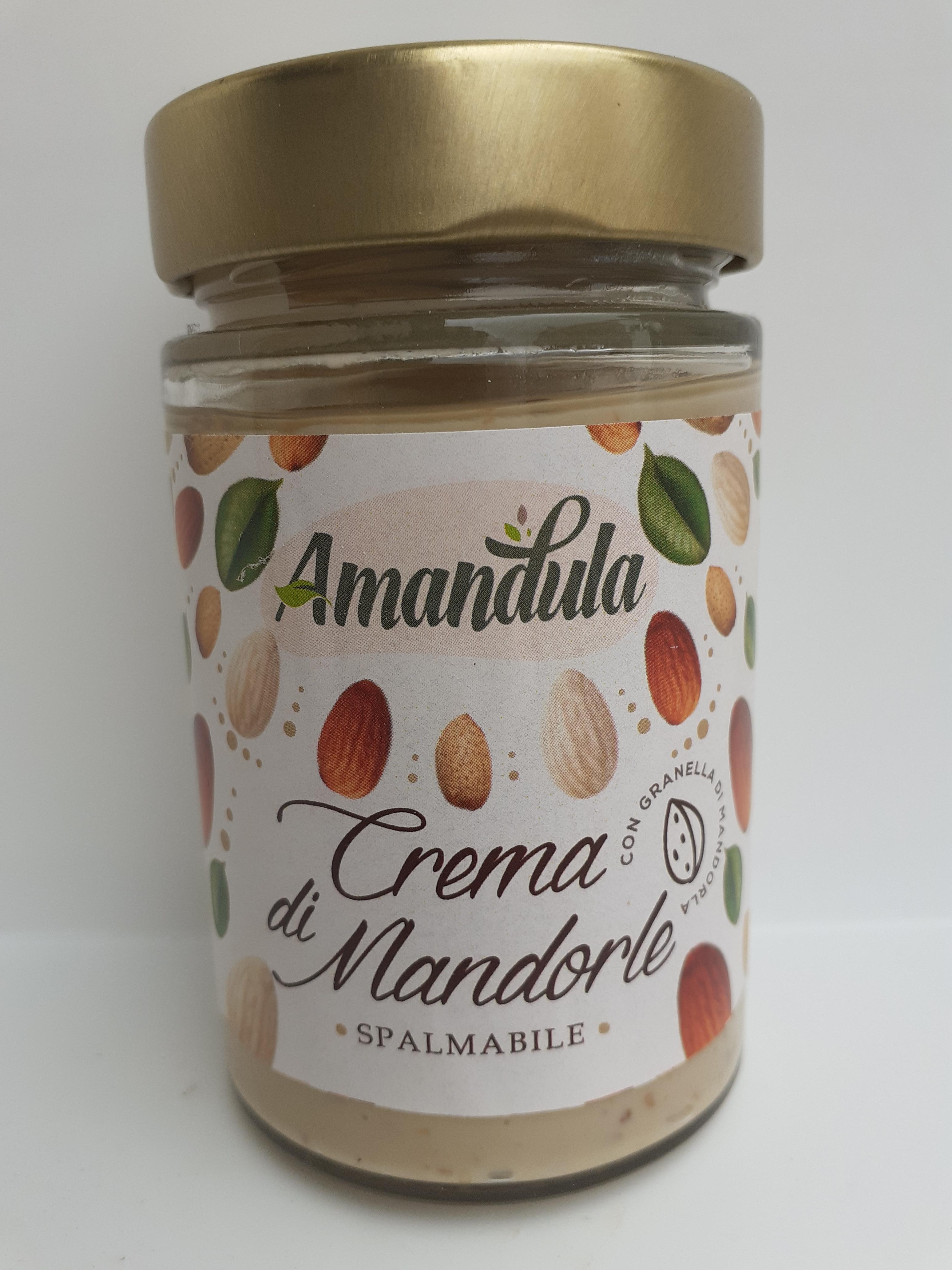 Crema di Mandorle  Spalmabile 200 gr Ditta  Caracciolo di Brancaleone (RC)