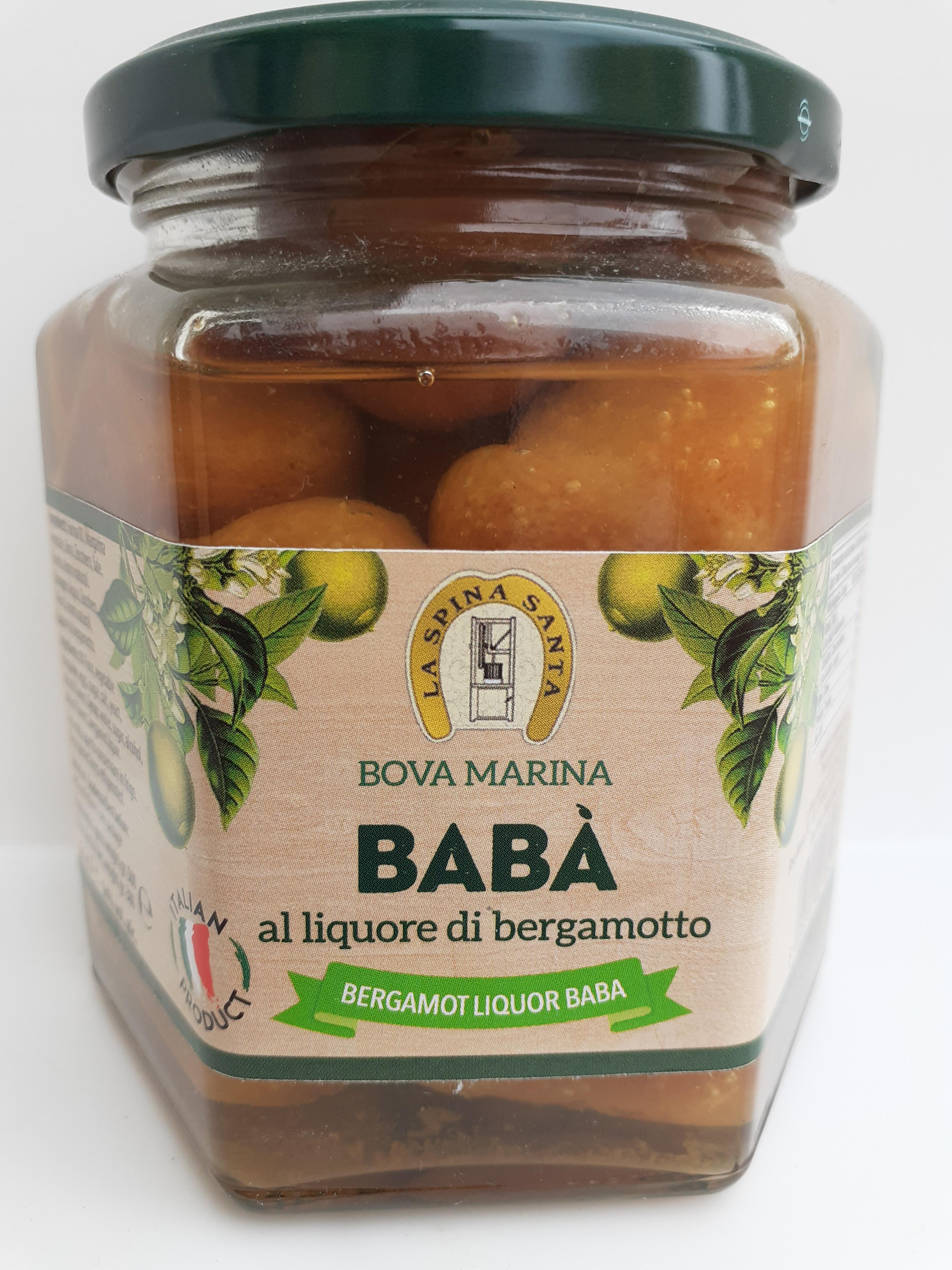 Baba' al Liquore di Bergamotto della ditta La Spina Santa di Bova Marina (RC)