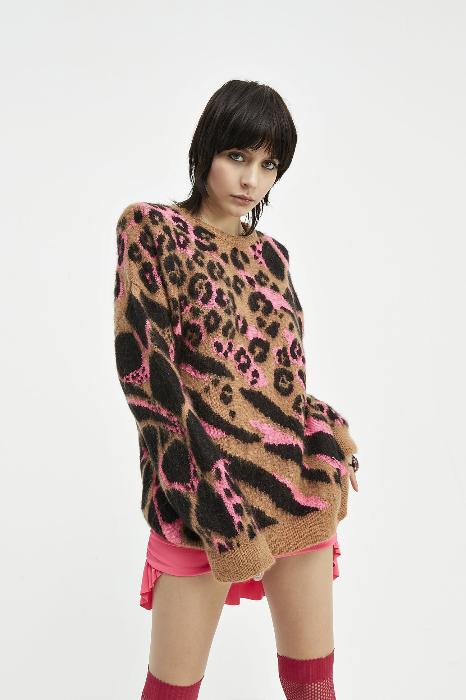 Maglione Pull Camou fluo-fuxy Aniye By