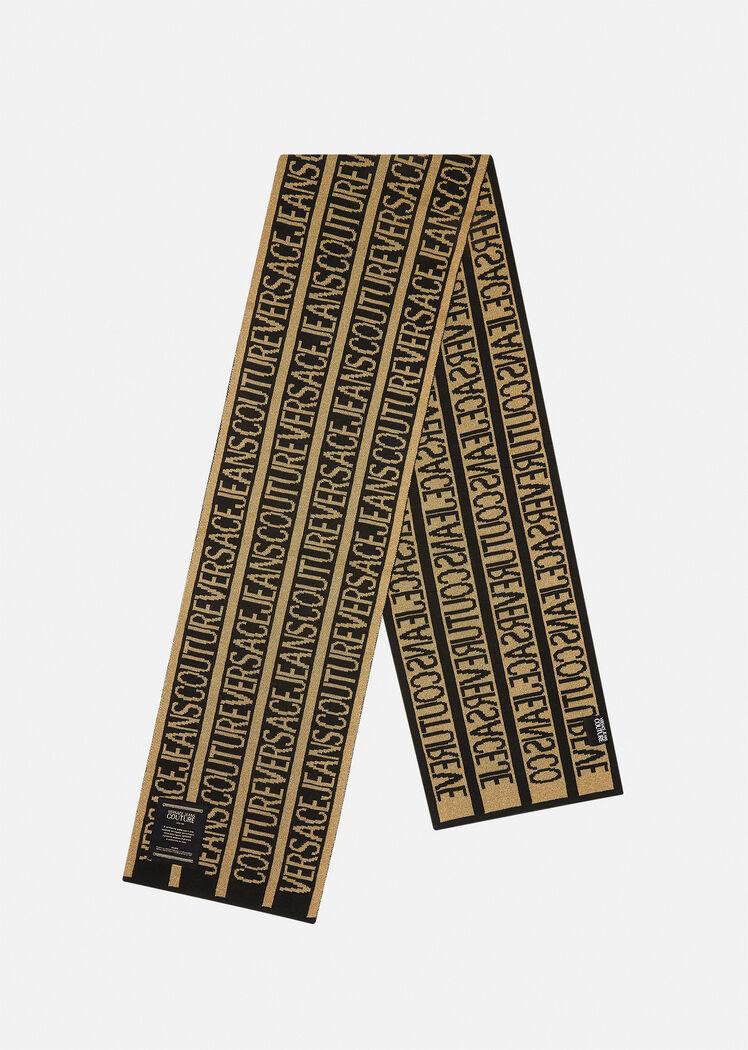 Sciarpa con logo dorato di Versace Jeans Couture