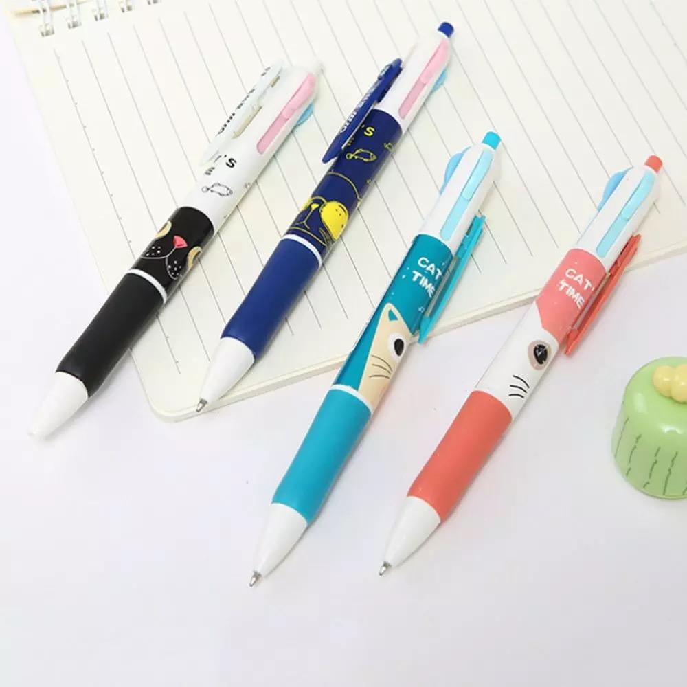 Penna 4 colori Gatto