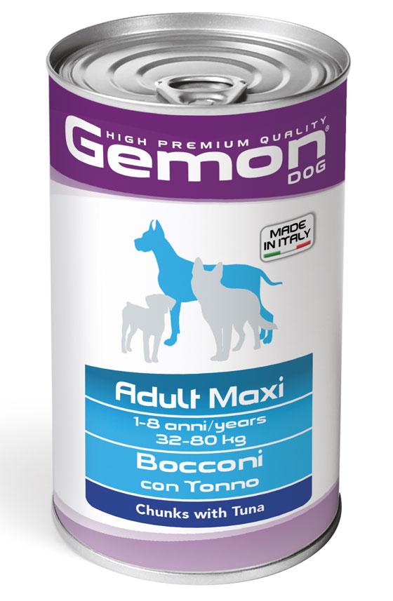 GEMON BOCCONI CON TONNO ADULT MAXI 1250 GR