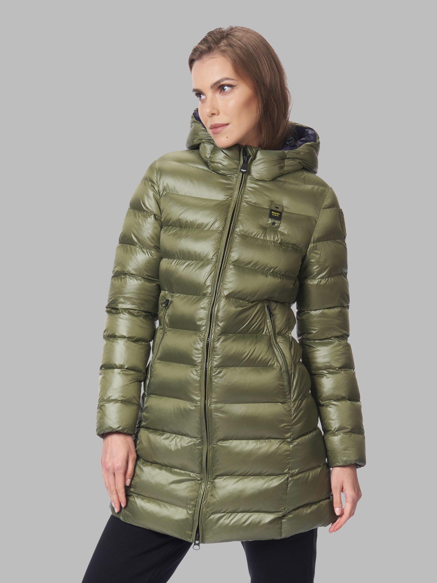 PIUMINO donna LUNGO ECO RENEE | colore verde alpino | Marca BLAUER