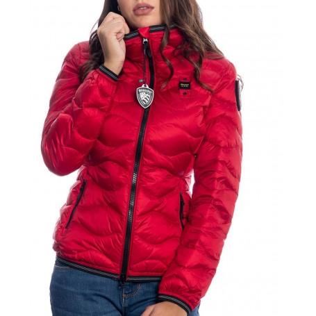 PIUMINO donna A ONDE CON CAPPUCCIO MONICA   colore rosso   Marca BLAUER