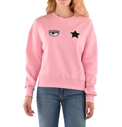 Felpa rosa con logo di Chiara Ferragni