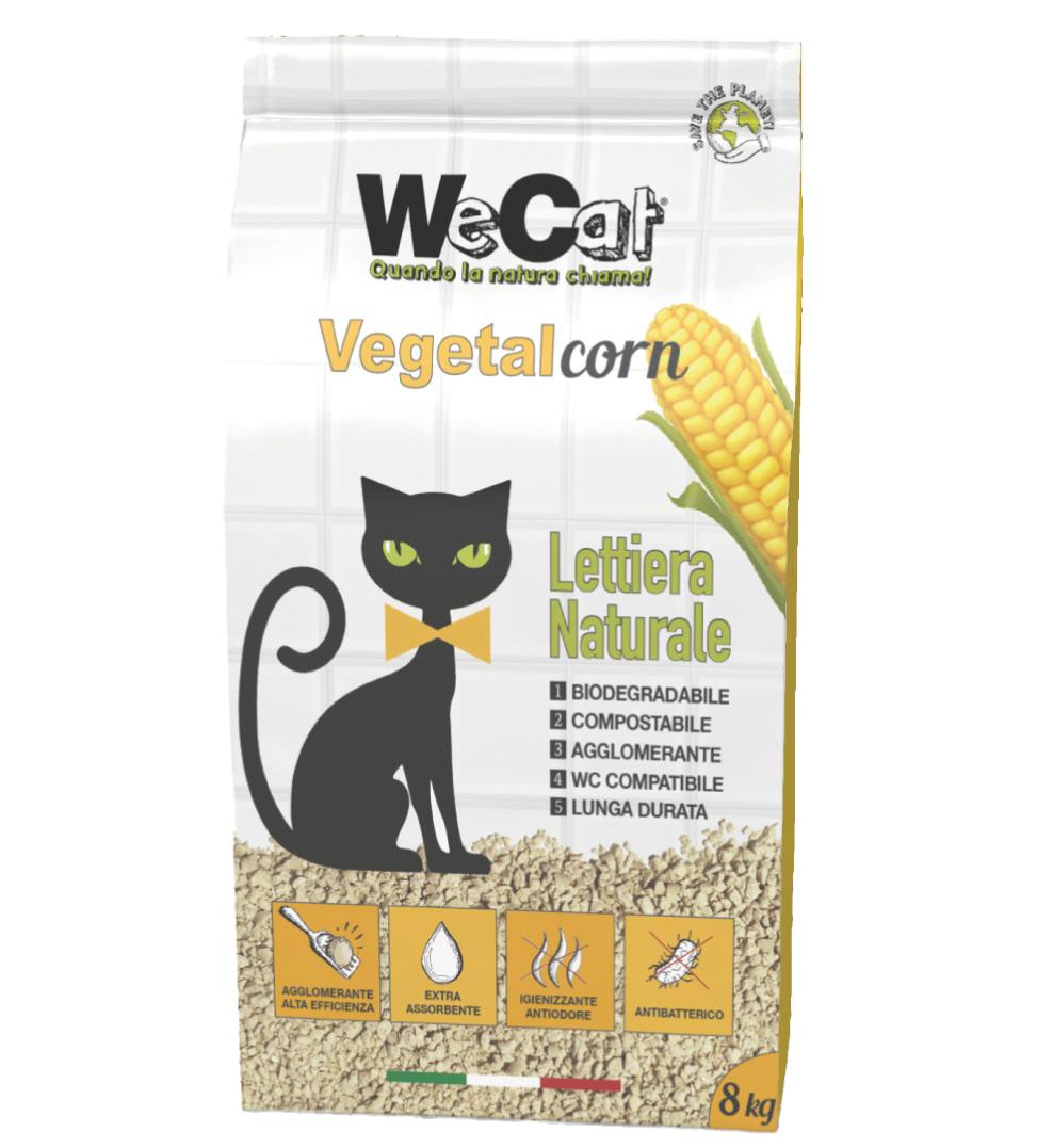 WeCat - Vegetal Corn - Lettiera Vegetale - 8 kg