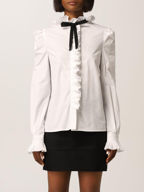 Camicia bianca con nastro nero Philosophy di Lorenzo Serafini