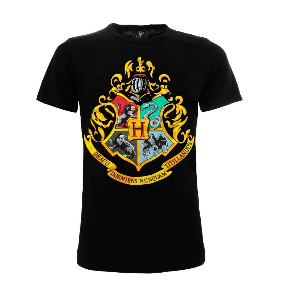 Harry Potter maglietta Stemma Hogwarts da 7 anni alla taglia XXL