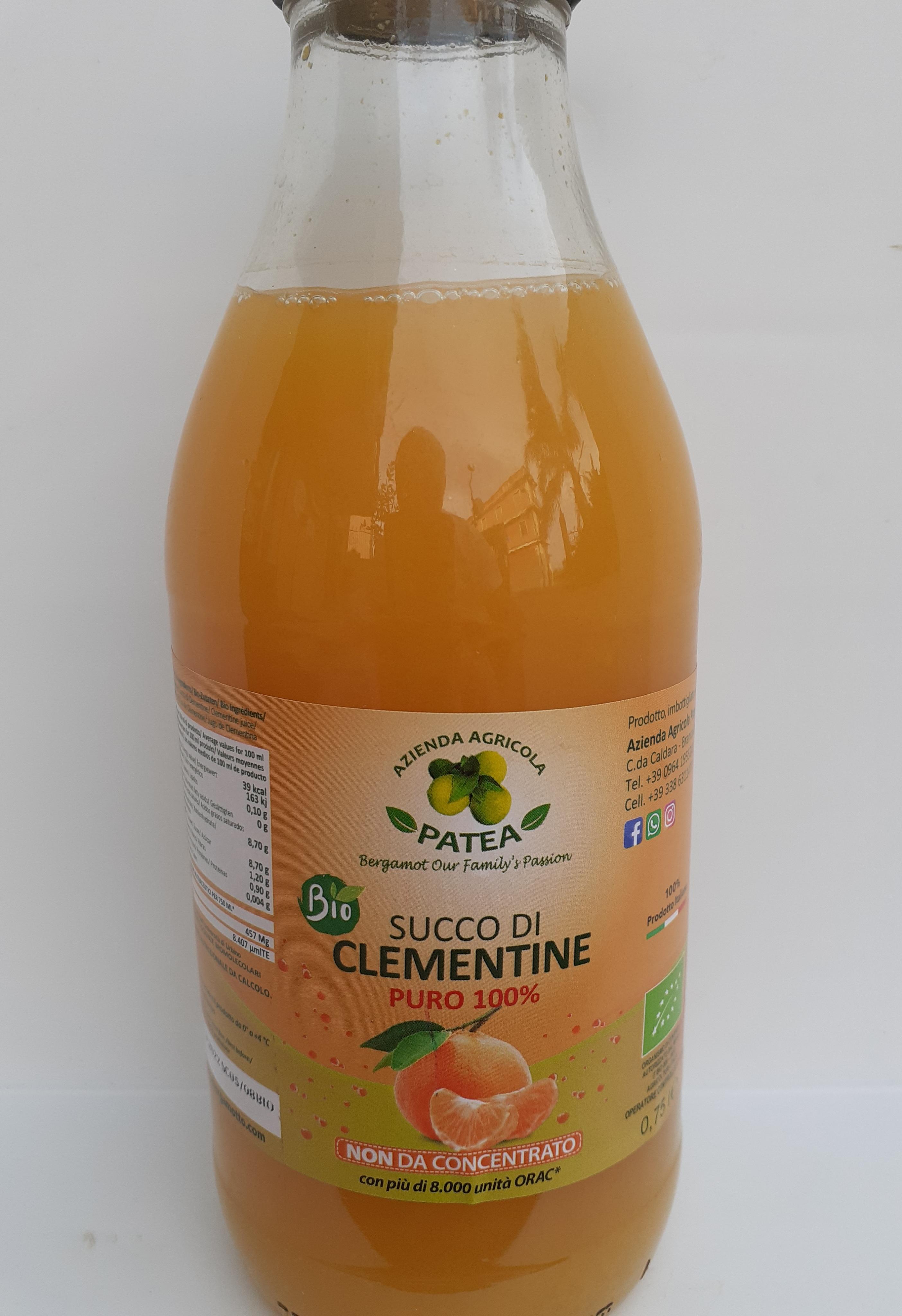 Succo di Clementine 0,70cl bio . Az Agr Patea di Brancaleone (RC)