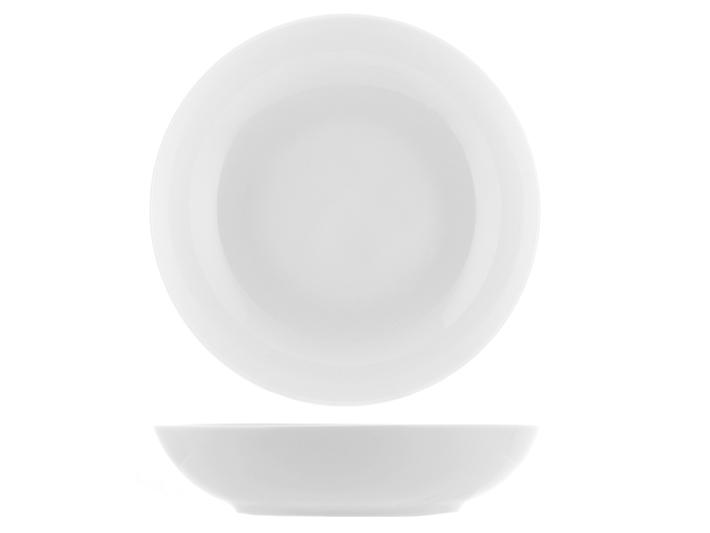 Piatto fondo bianco in porcellana a ciotola cm20