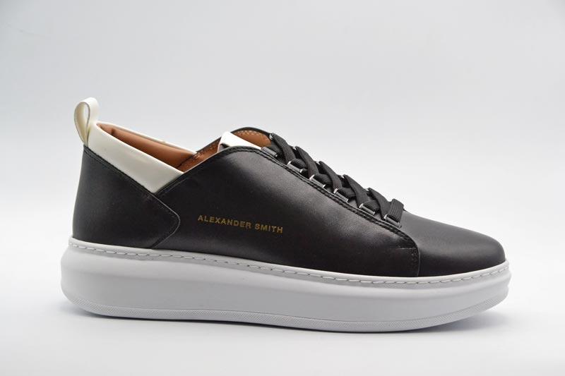 Novità A/I 2021 Alexander Smith Calzatura Uomo-Black/White W110181