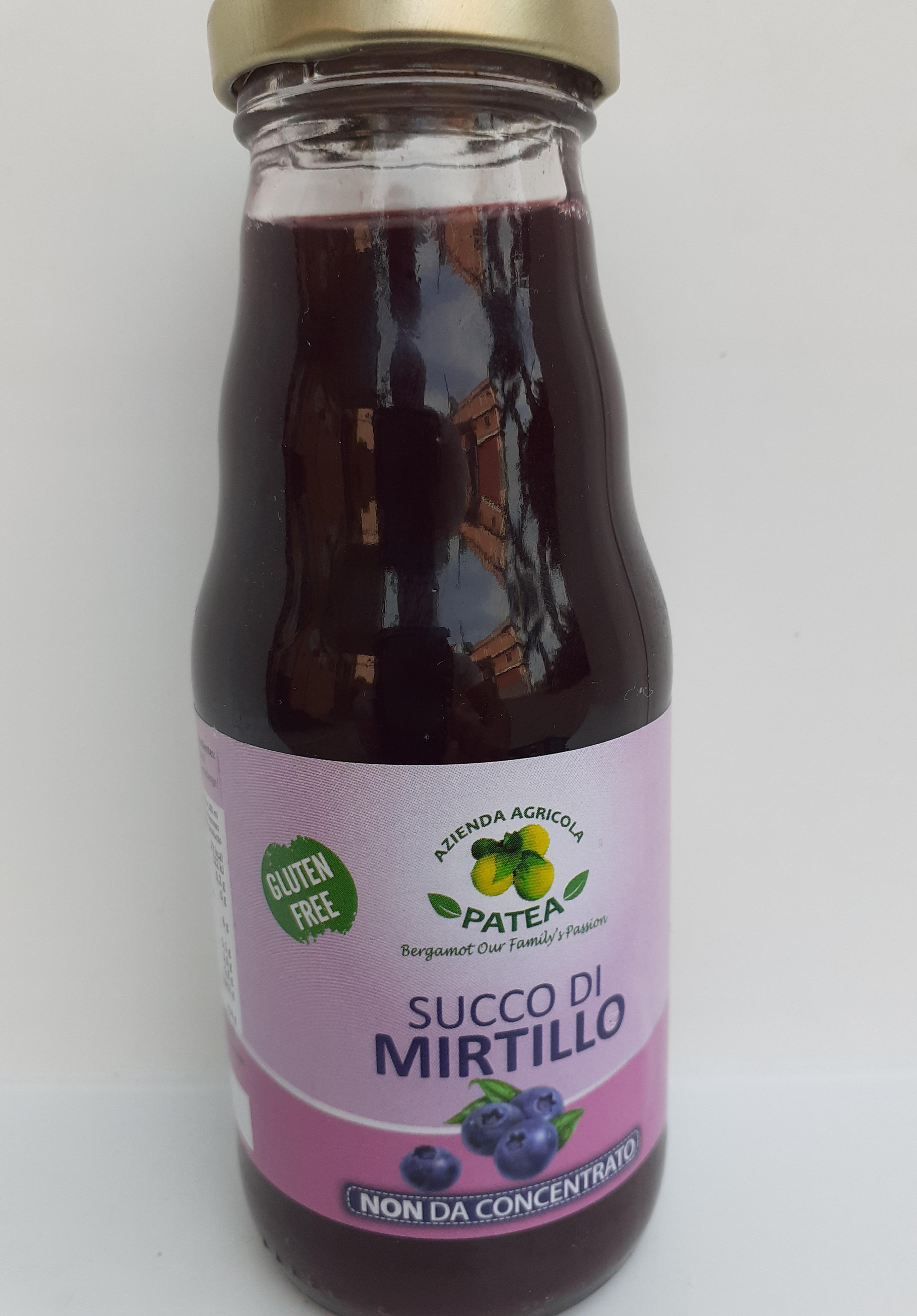 Succo di Mirtillo non da concentrato 200 ml . Az. Agr. Patea  Brancaleone (RC)