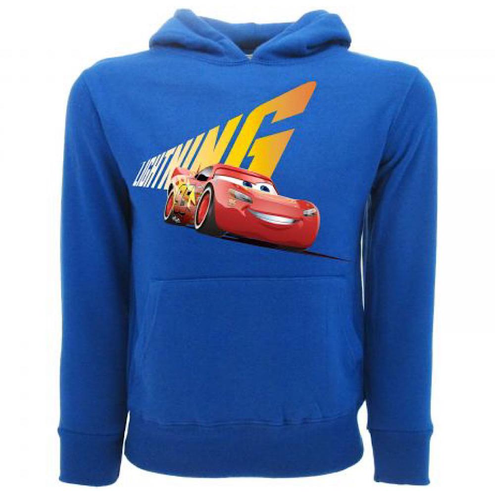 Felpa blu  Cars Saetta taglia da 2 a 13 anni