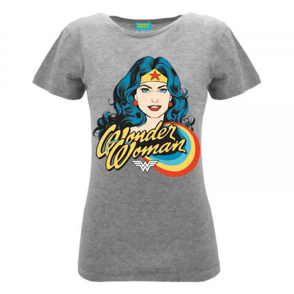 Maglietta Wonder Woman grigia taglia S M L XL donna