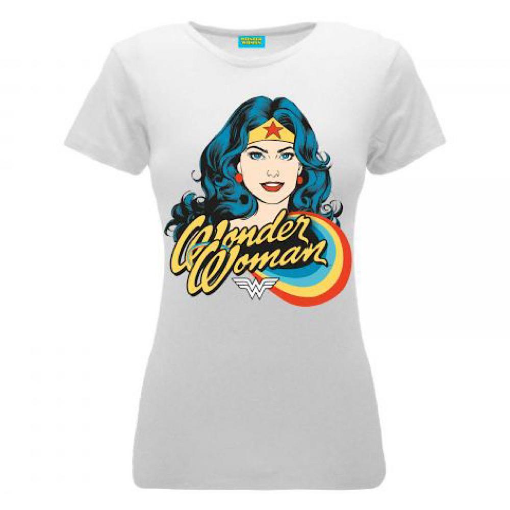 Maglietta Wonder Woman bianca taglia S M L XL donna