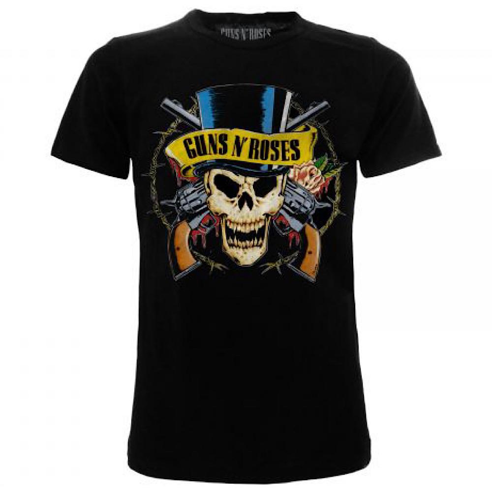 Maglietta Guns N' Roses teschio taglia XS S M L XL XXL