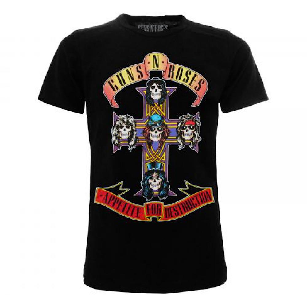 Maglietta Guns N' Roses Destruction taglia XS S M L XL XXL