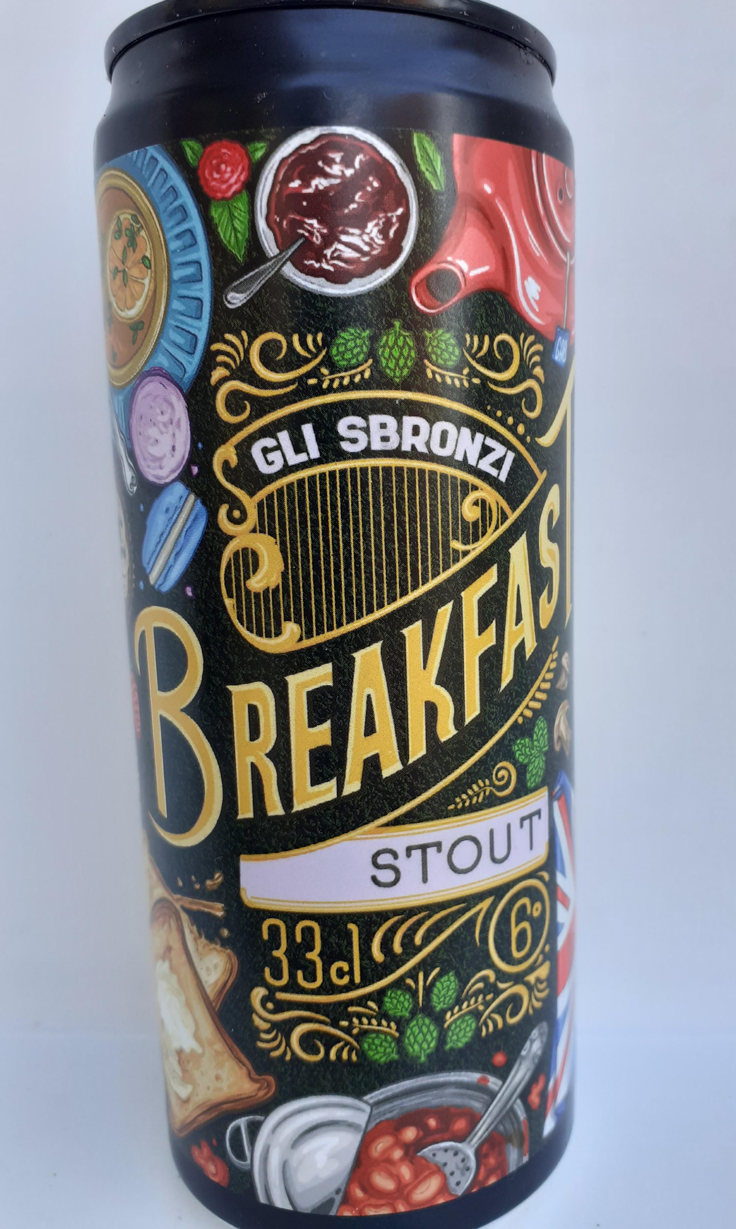 Birra Artigianale Breakfast  non Filtrata 33 cl del Birrificio Gli Sbronzi (RC)