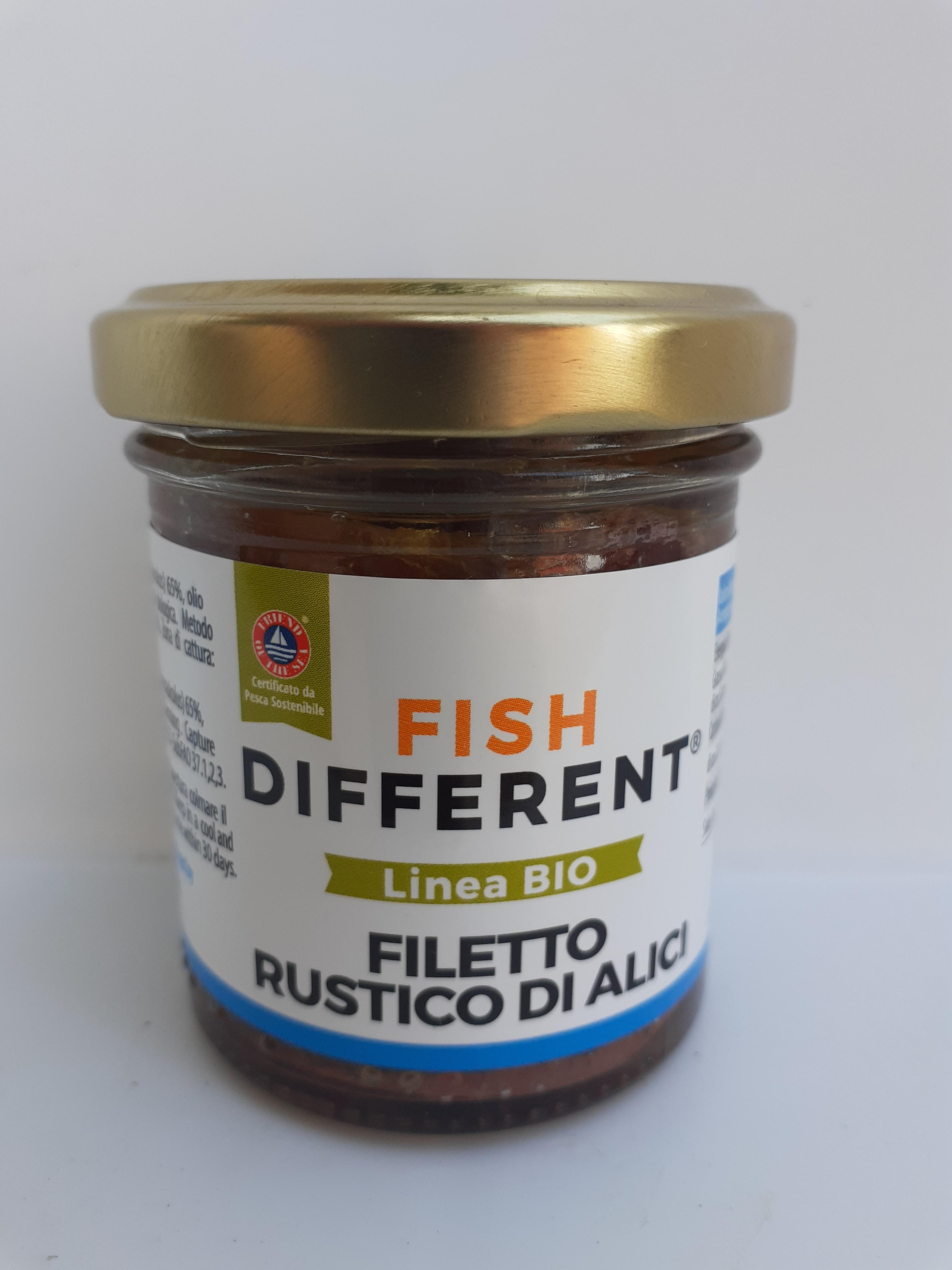 Filetto Rustico di Alici Bio 100 gr della ditta Calabriaittica di Anoia (RC)