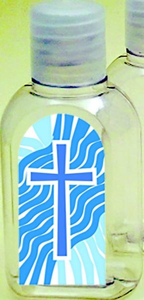Bottiglietta plastica 50 ml. (100 pz) Croce/Acqua