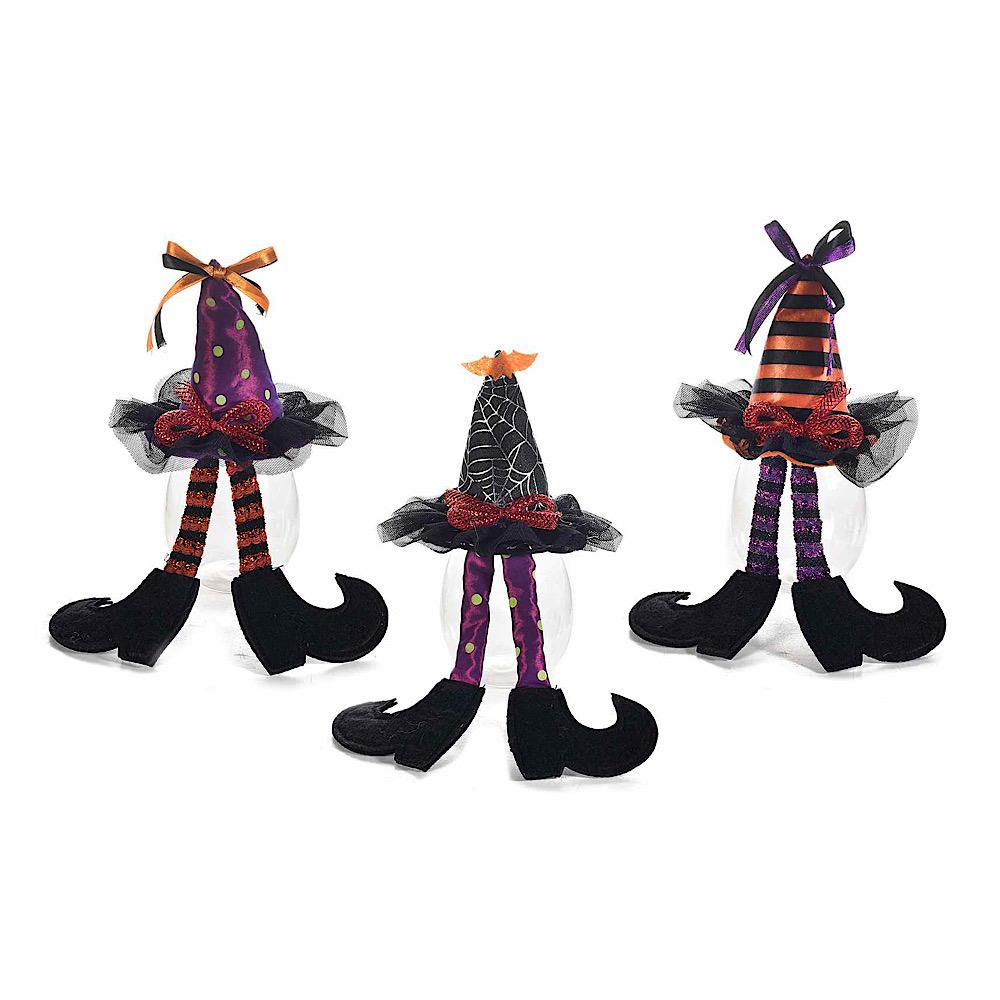 Barattolo contenitore portadolci Halloween con cappello strega