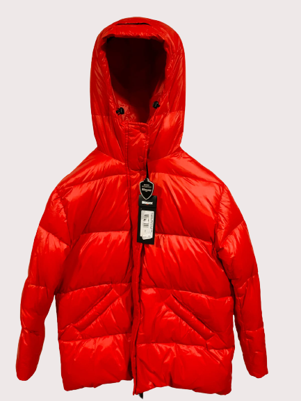 Piumino Blouson imbottito per donna con cappuccio | Marca BLAUER | colore rosso