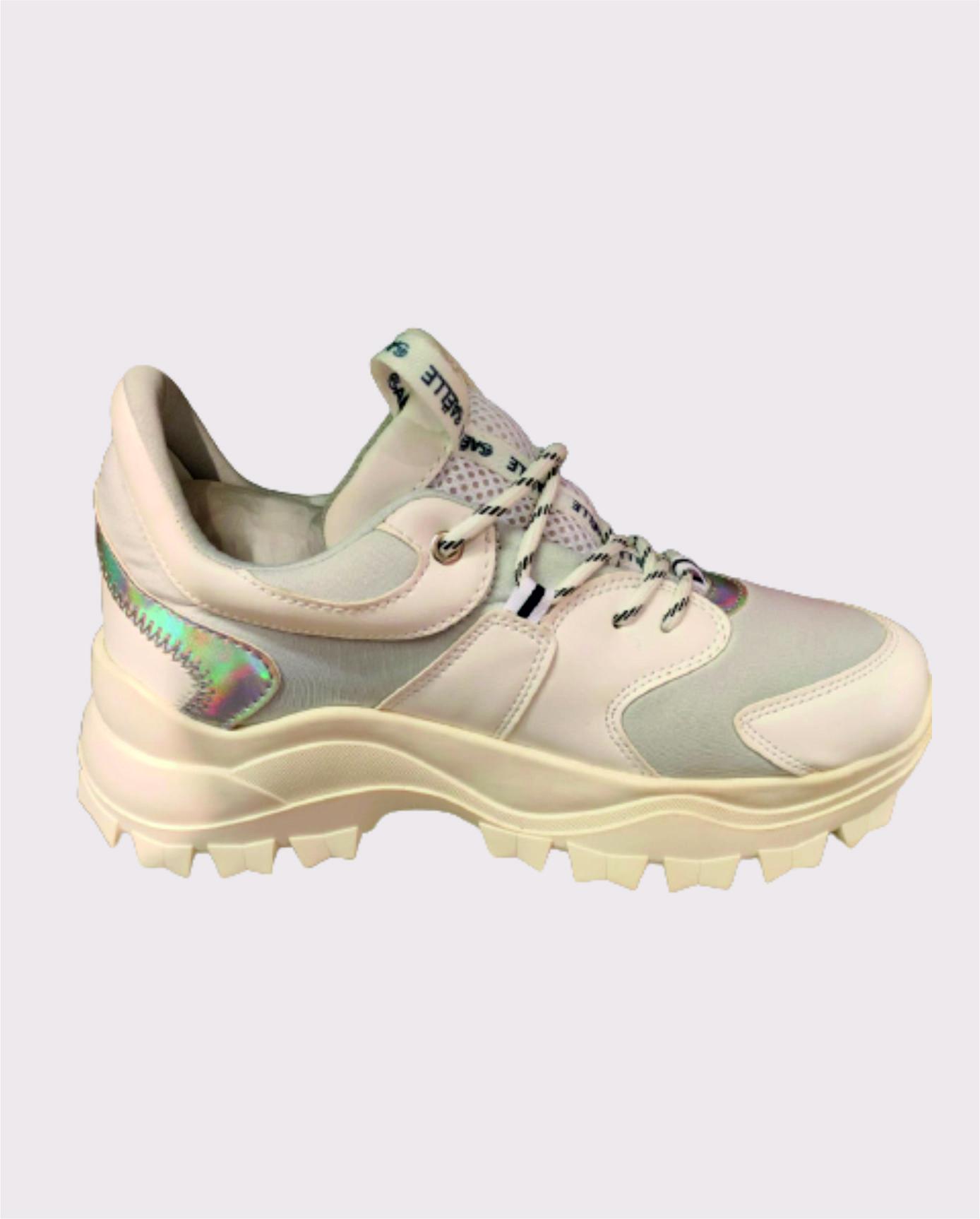 Sneaker Running donna Bianco/argento   Marca GAELLE PARIS