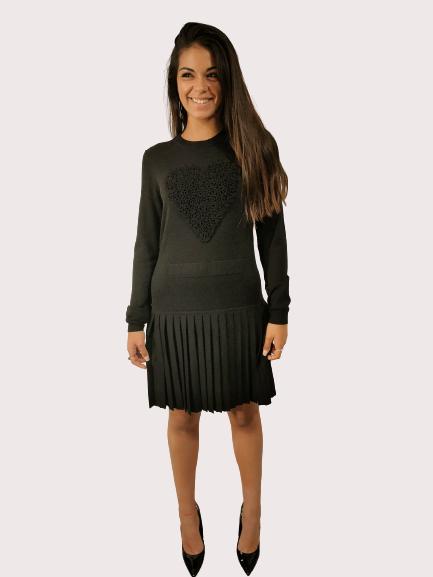 Vestito Abito in maglia | colore nero | Marca MOSCHINO LOVE