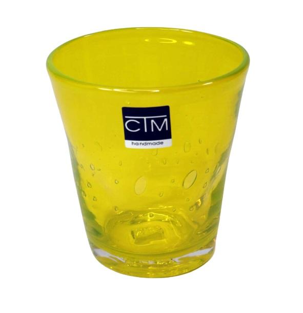 Bicchiere colorato con bolle GIALLO Samoa