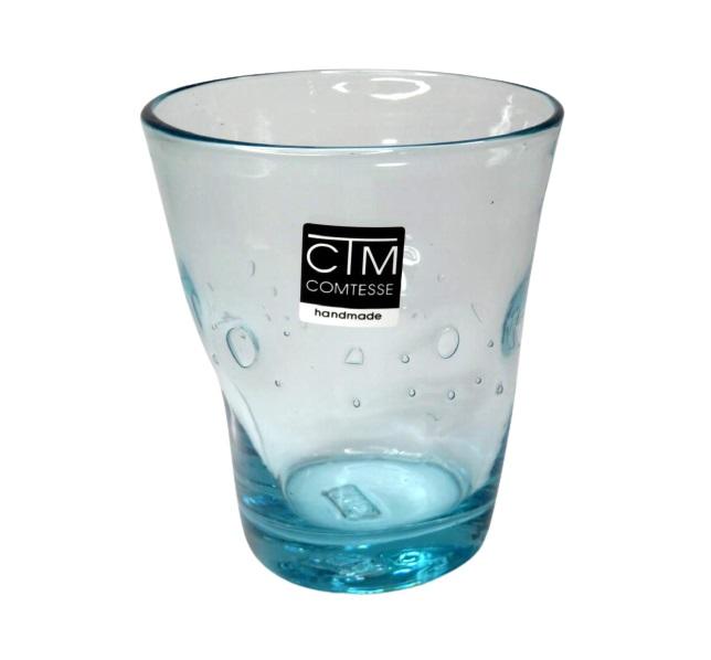 Bicchiere colorato con bolle AZZURRO  Samoa