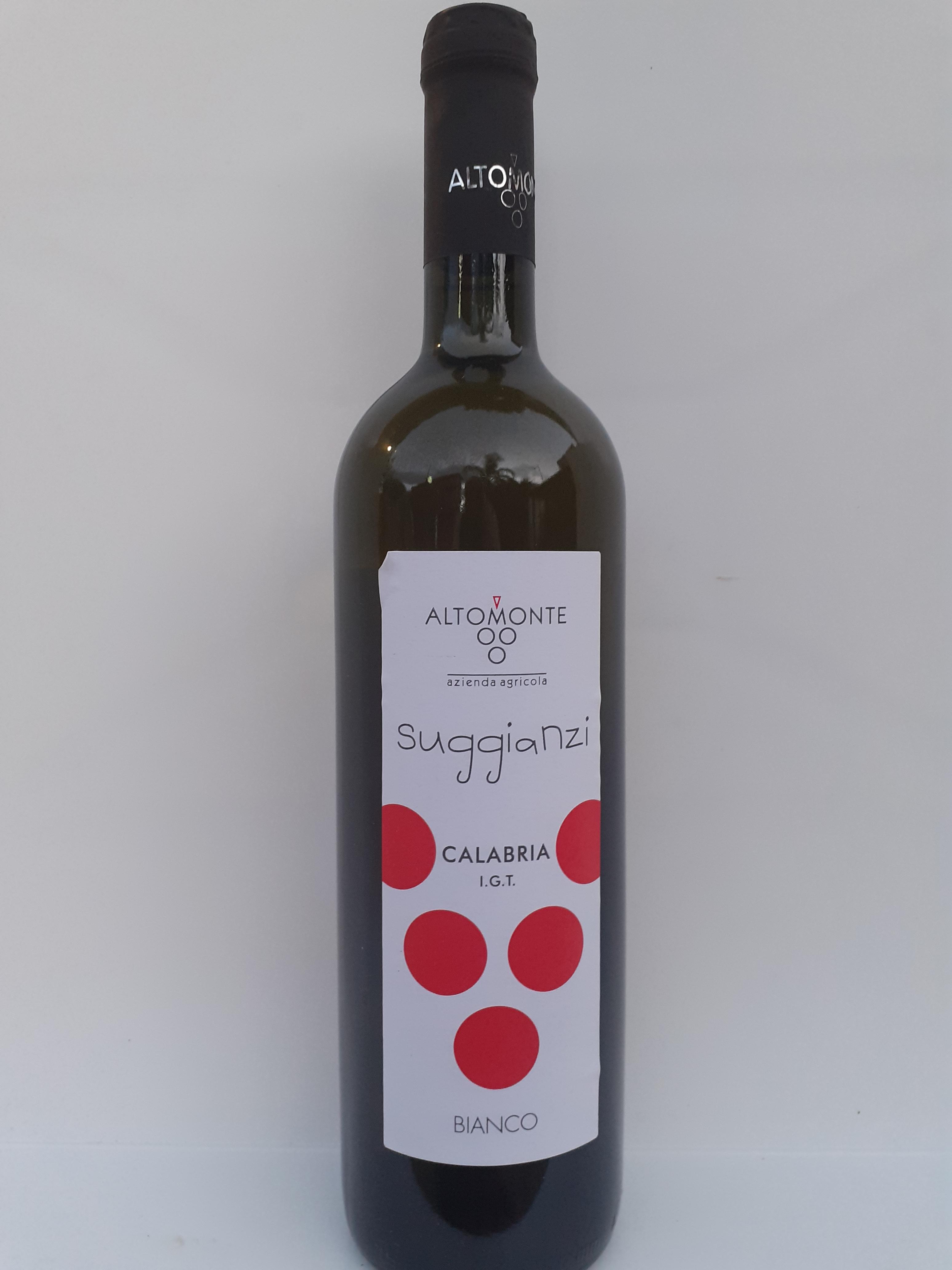 Suggianzi Calabria I.G.T Vino Bianco 750ml. Azienda Vinicola Altomonte Palizzi (RC)