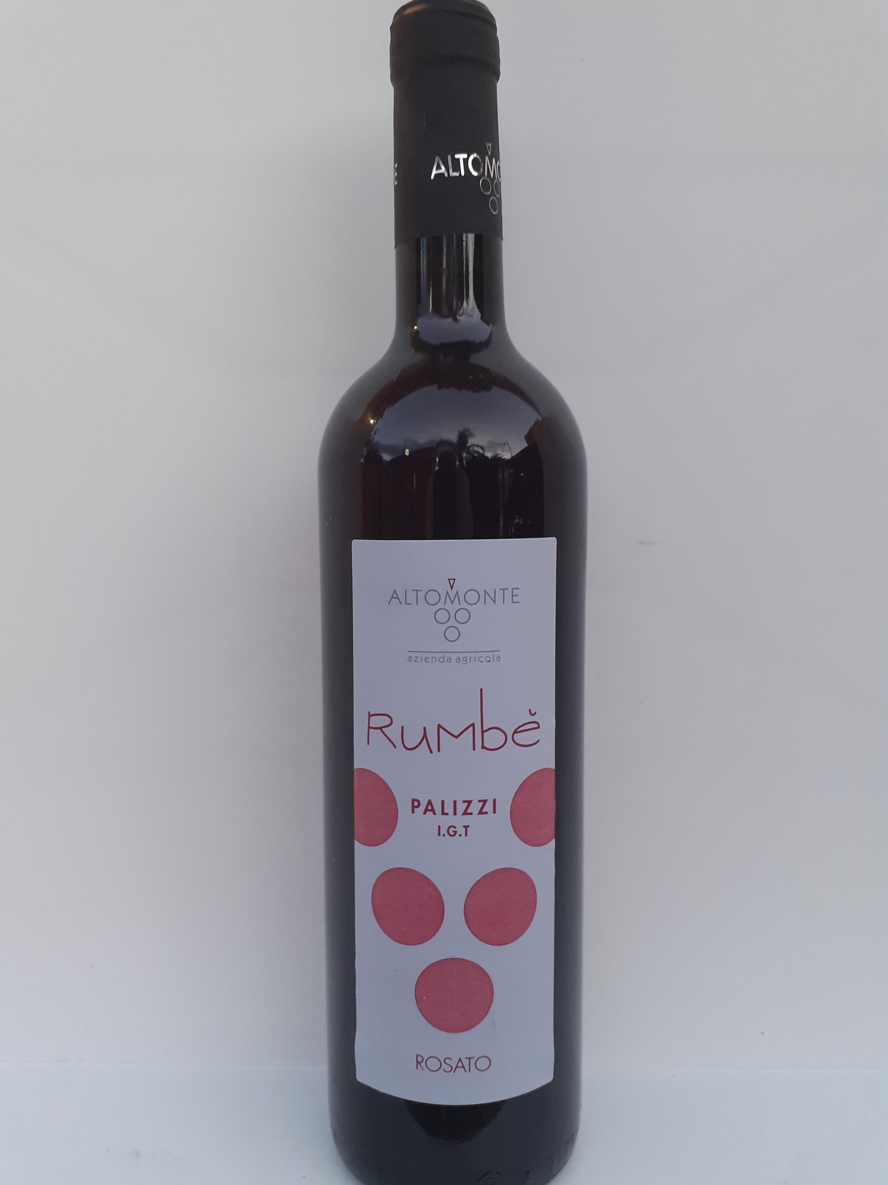 Vino Rose' Rumbe' Palizzi I.G.T. 750 ml dell' Azienda Agricola Altomonte Antonino Palizzi (RC)