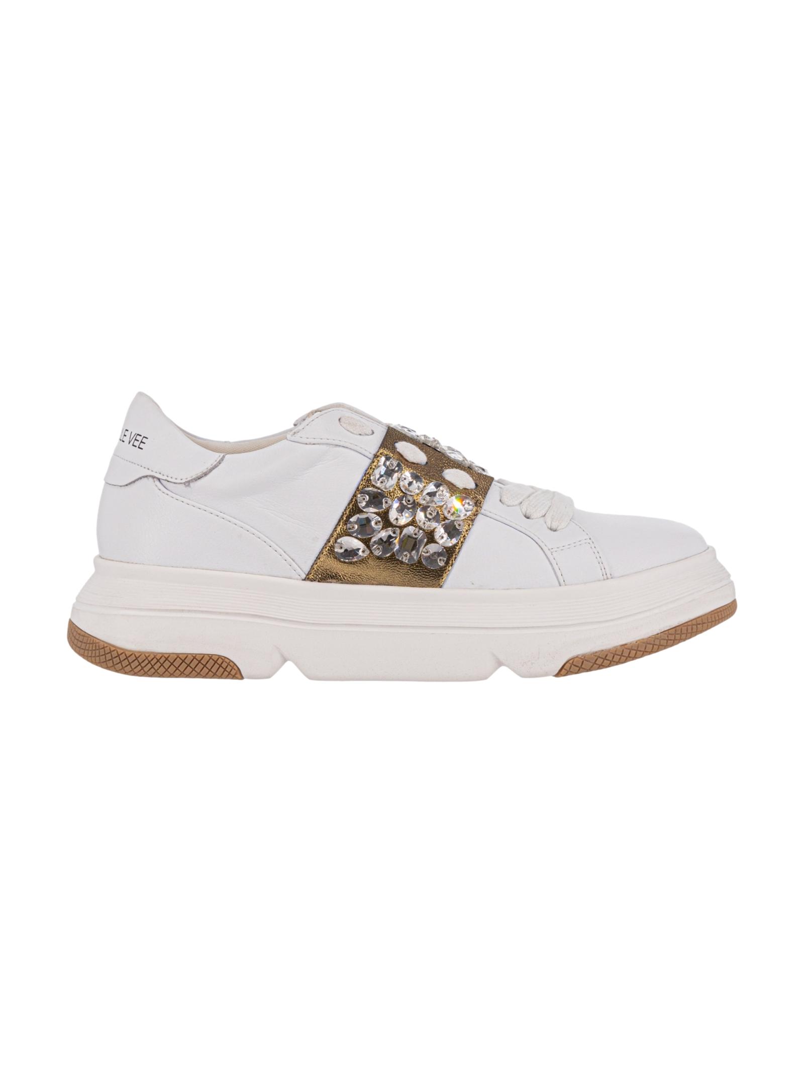 Emanuelle Vee Sneakers Bianche/Gold