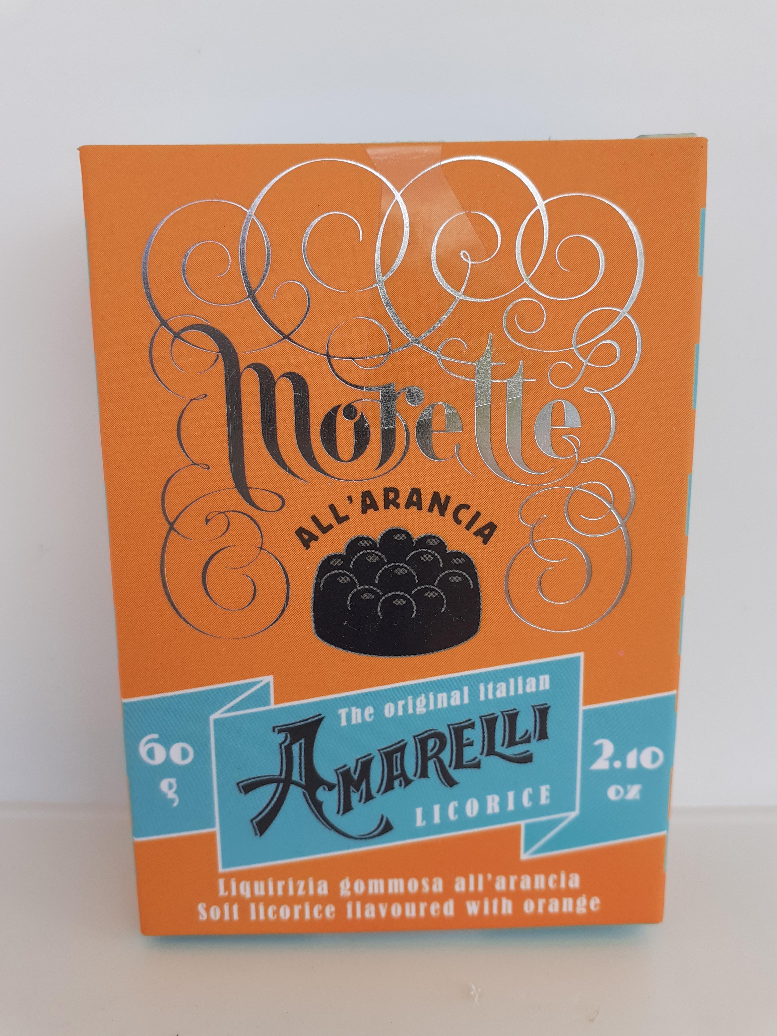 Amarelli morette all'arancia 60g. Amarelli Fabbrica di Liquirizia Rossano (CS)