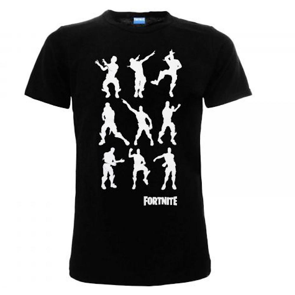 Maglietta Fortnite originale corta nera dai 7 a 16 anni