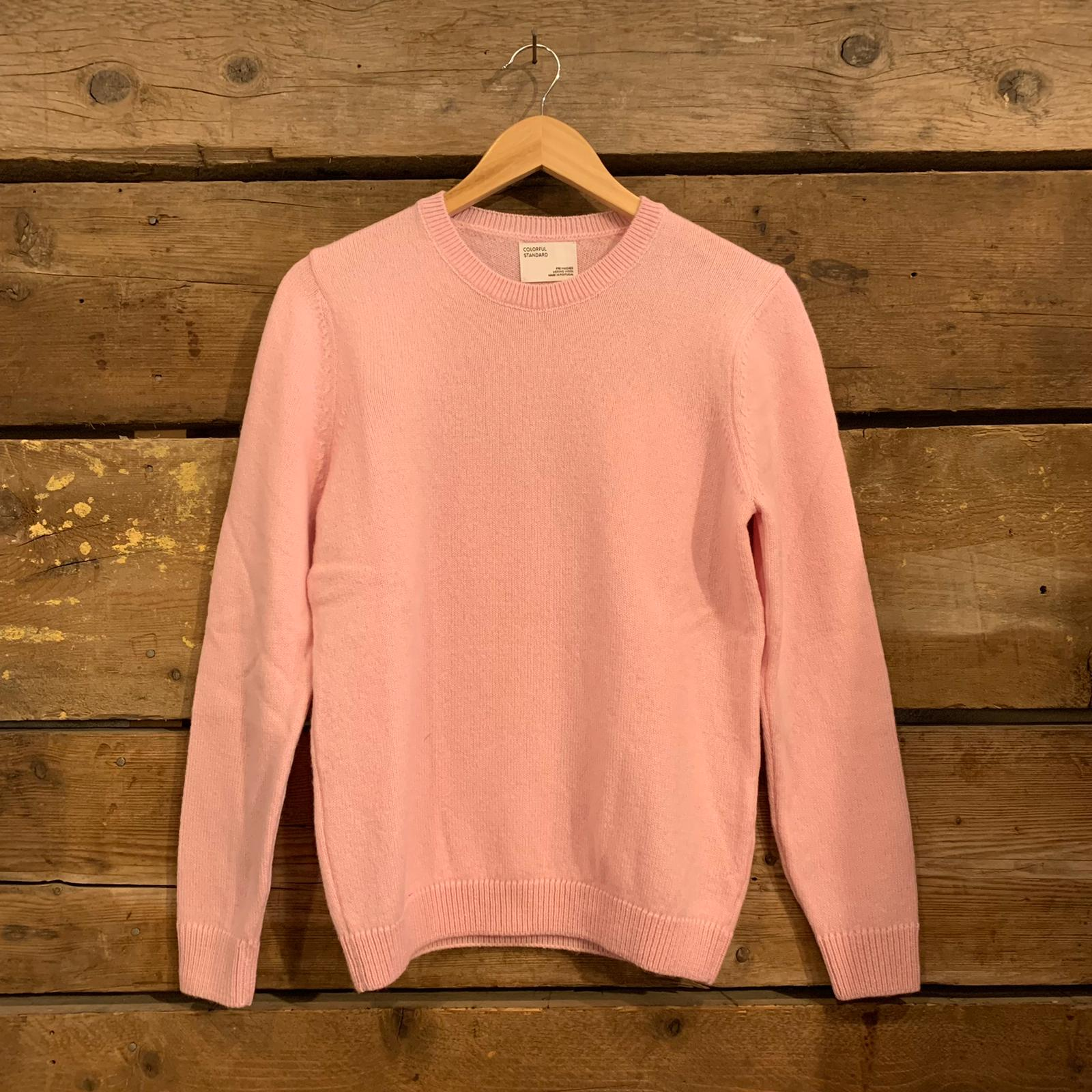Maglione Colorful Standard Girocollo Classic Merino Wool Donna Rosa