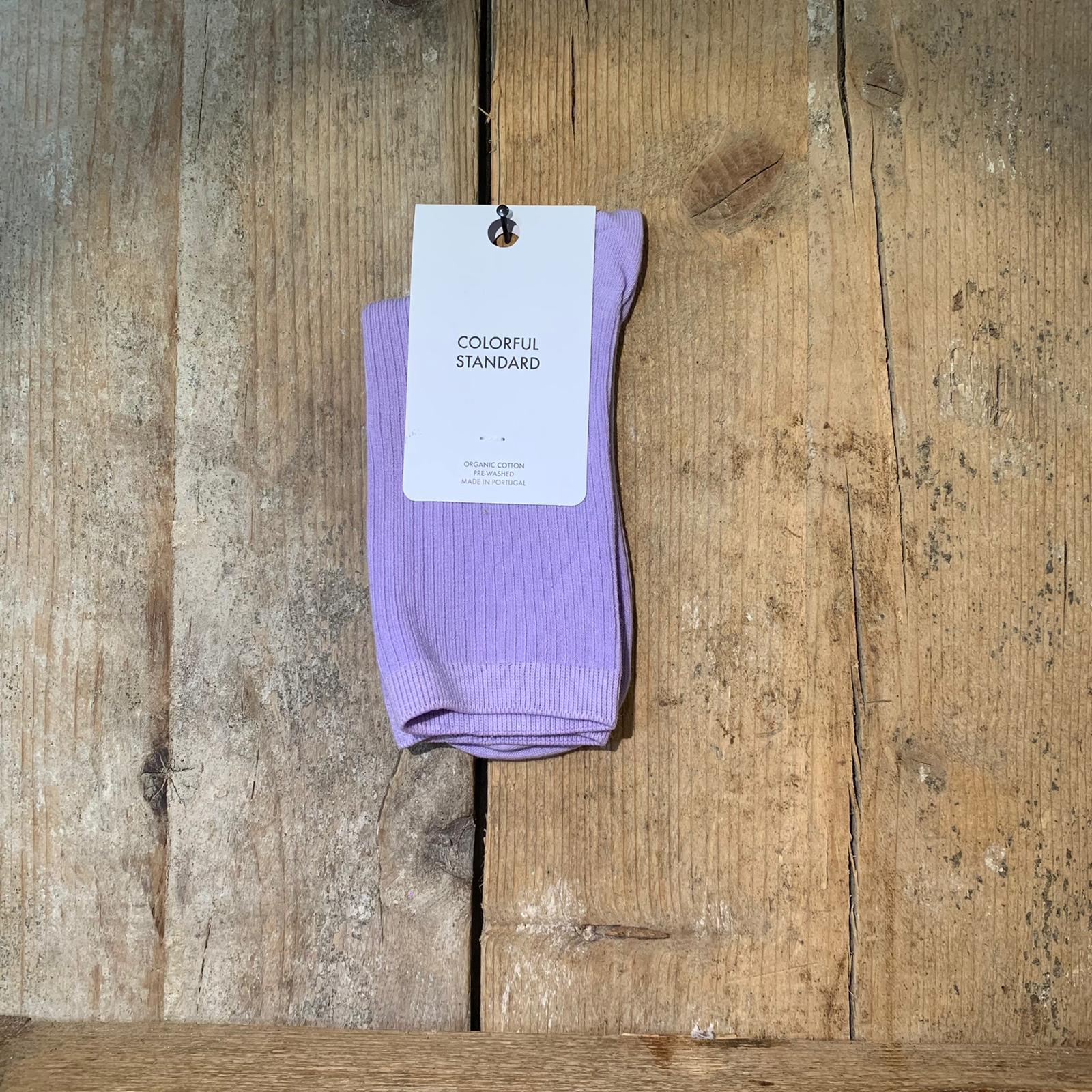 Calzino Colorful Standard in Cotone Organico Lilla