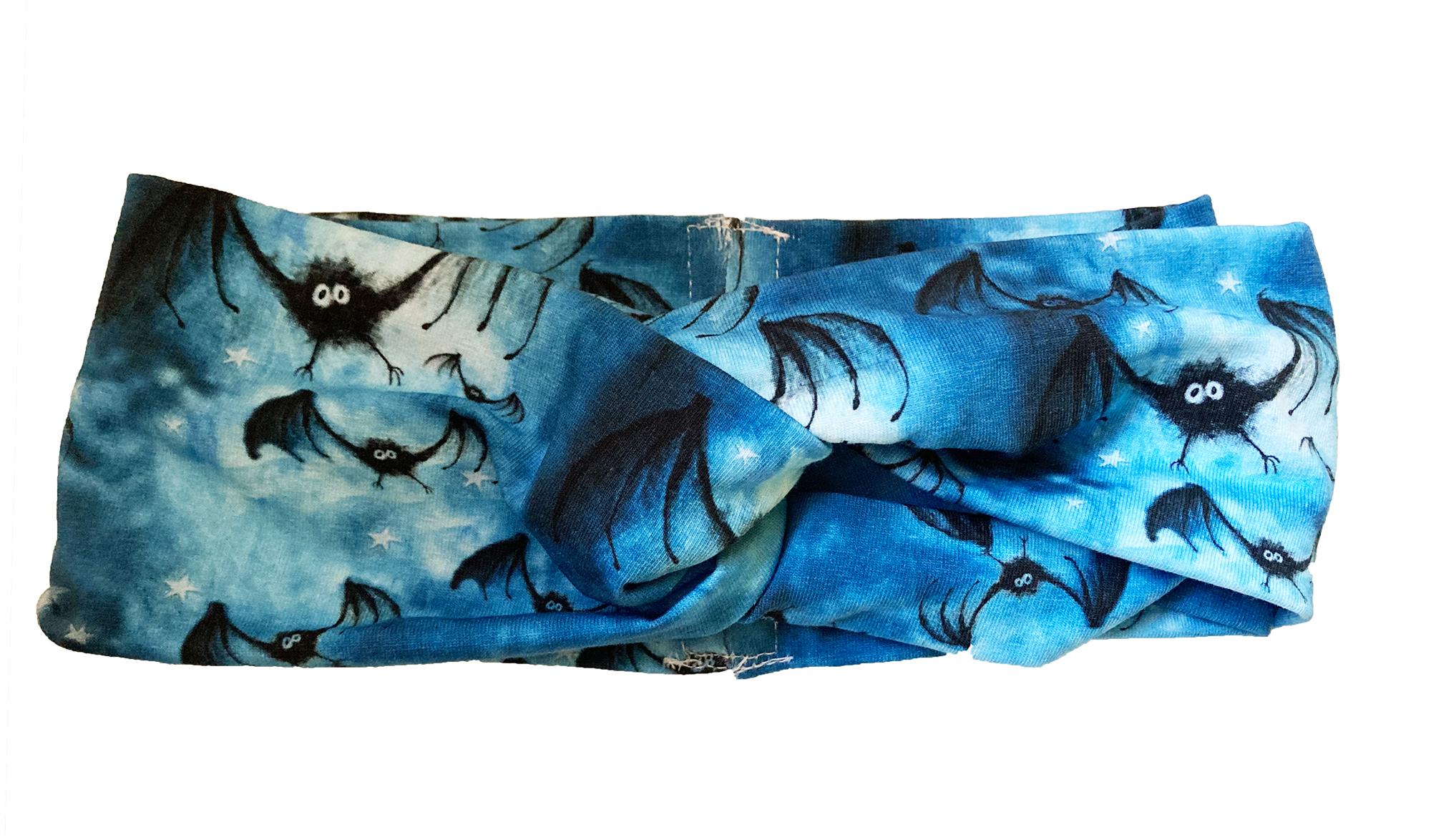 Pipistrelli Halloween - Fascia Turbante
