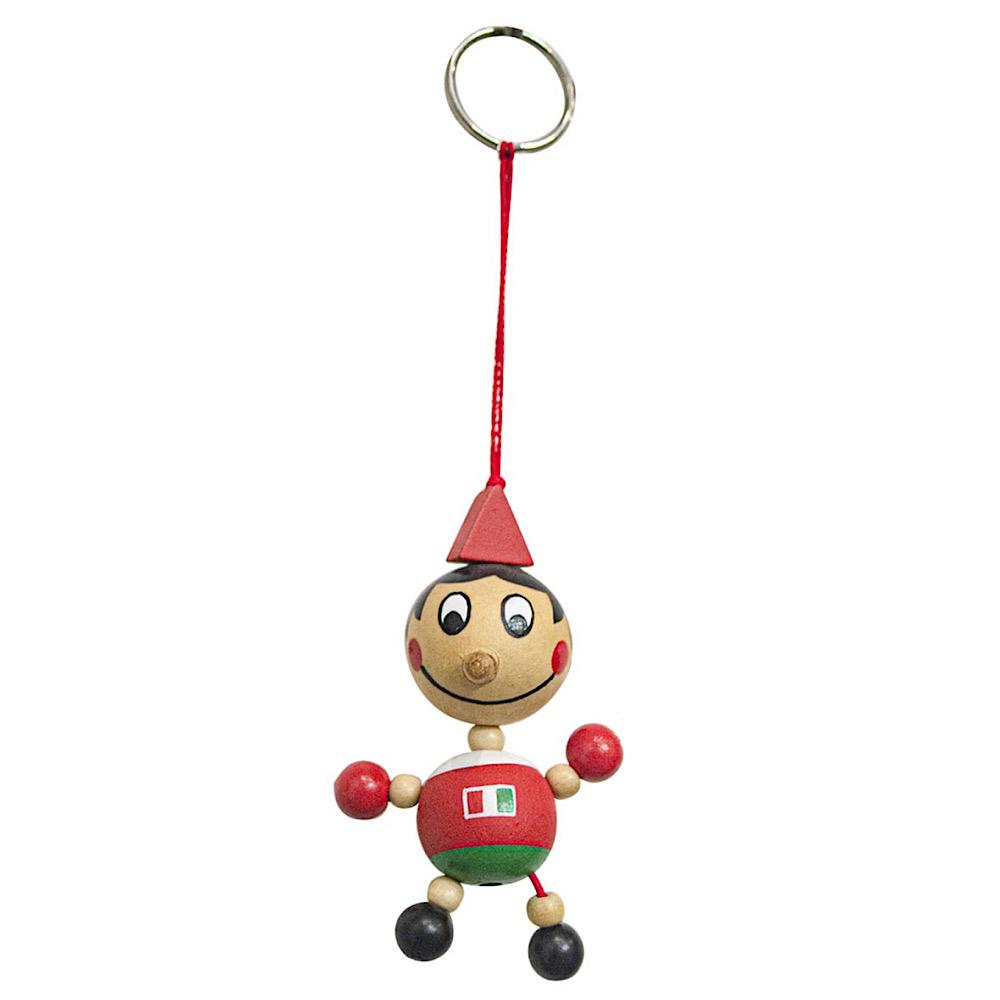Pinocchio portachiavi in legno