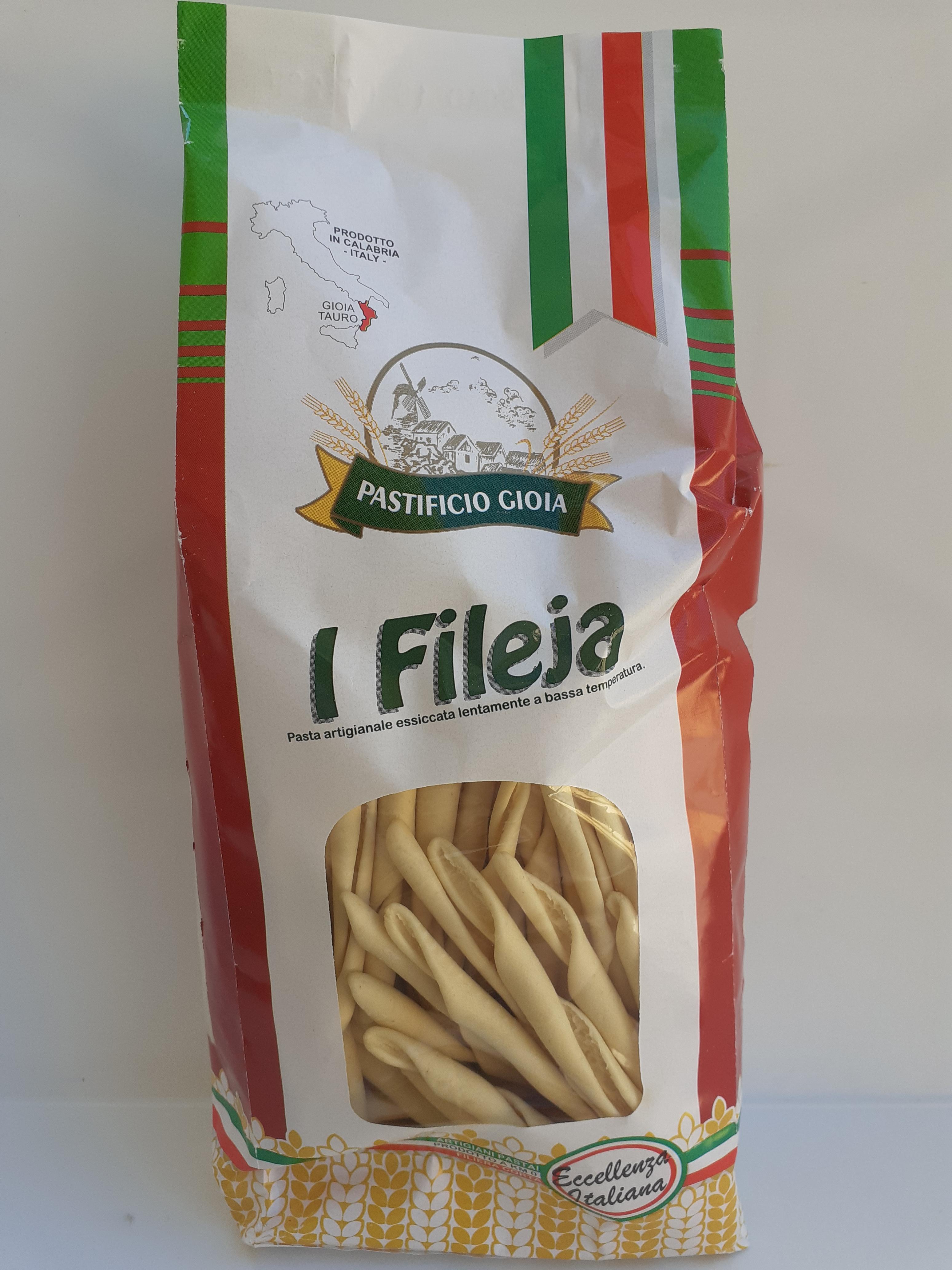 I Fileja 500g. Pasta Artigianale essiccata lentamente a bassa temperatura del Pastificio Gioia Gioia Tauro (RC)
