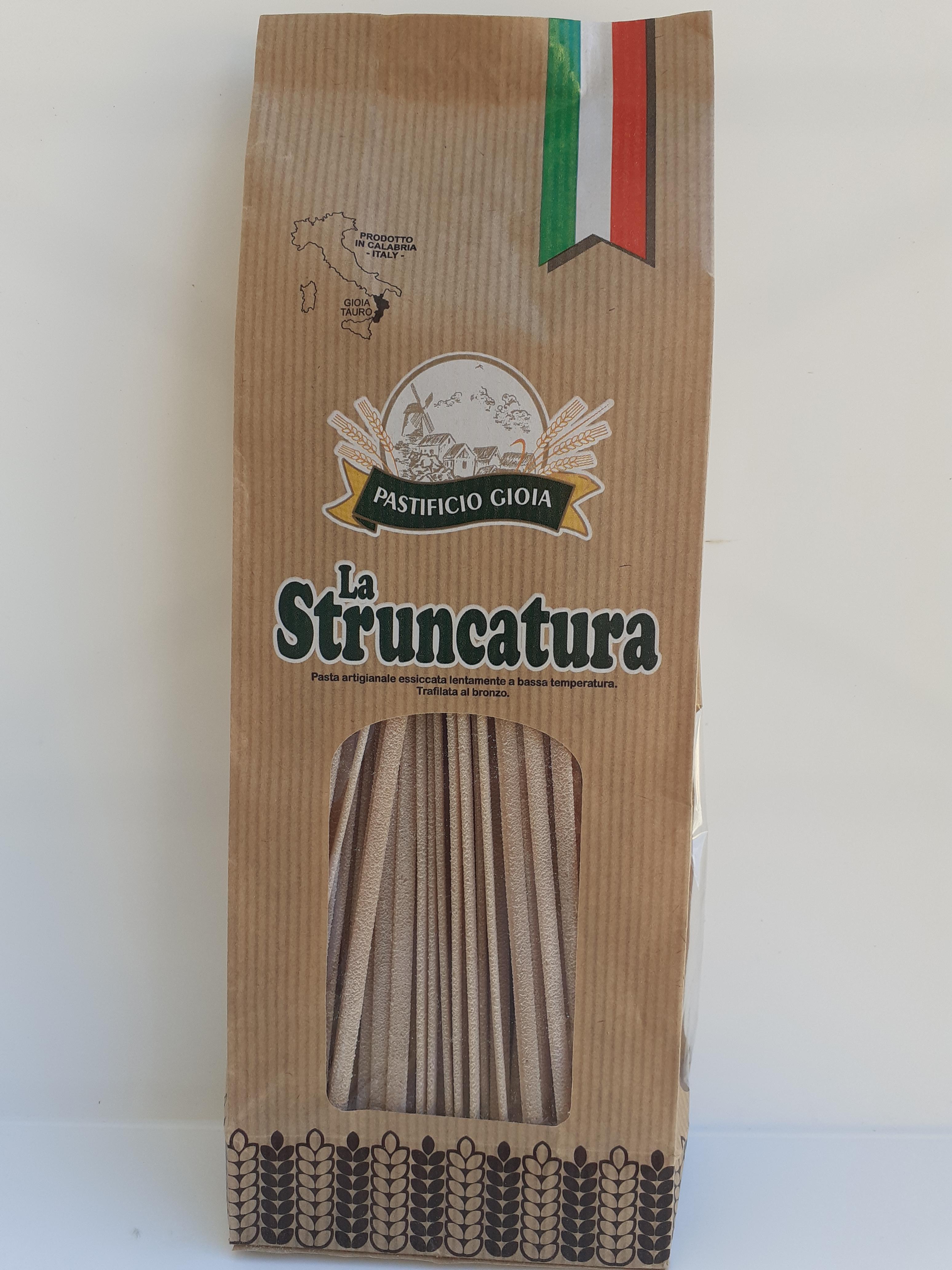 La Struncatura 500g. Pasta Artigianale essiccata lentamente a bassa temperatura Trafilata al bronzo del Pastificio Gioia Gioia Tauro (RC)