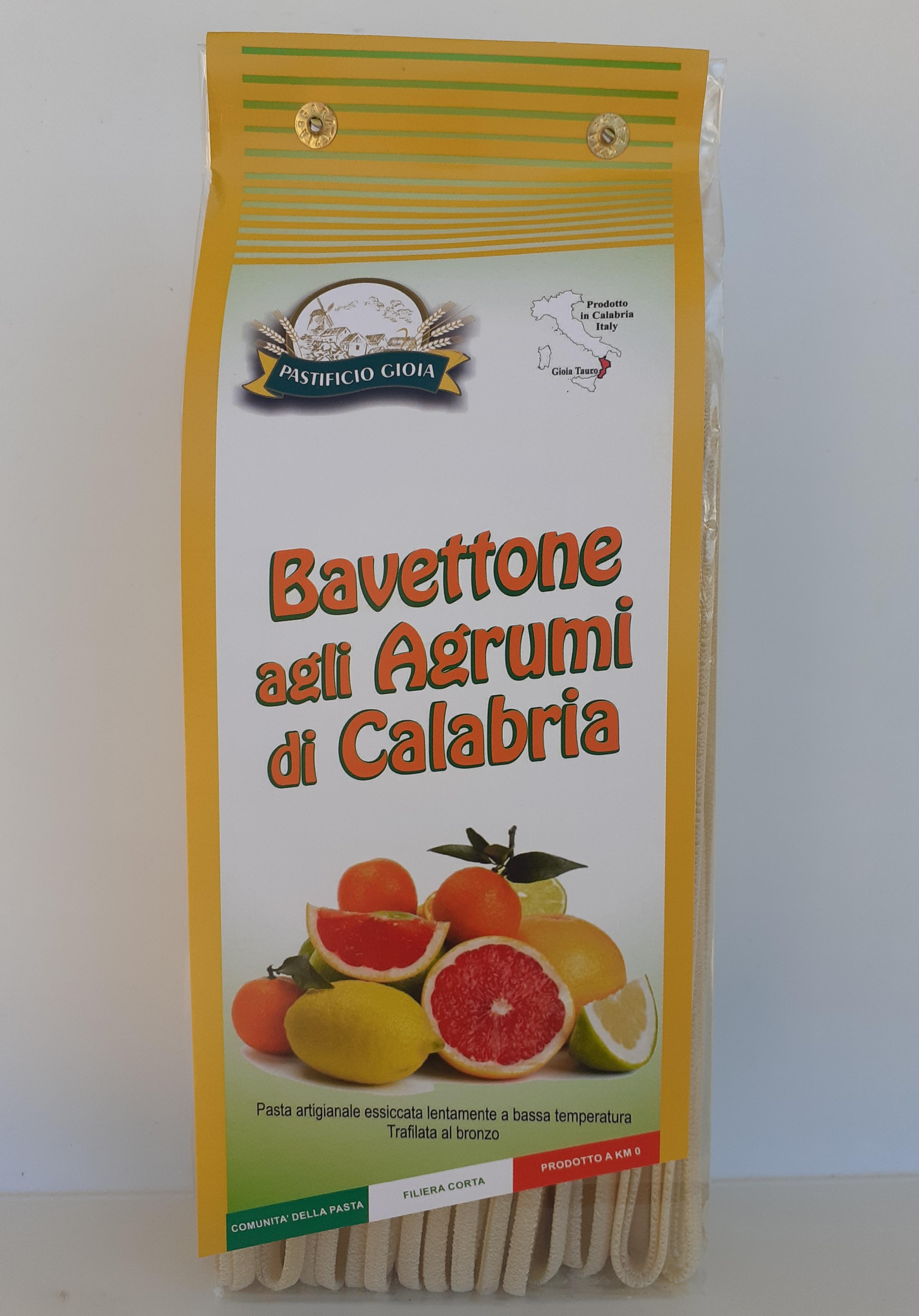Bavettone agli Agrumi di Calabria 500g. Pasta Artigianale essiccata lentamente a bassa temperatura Trafilata al Bronzo del Pastificio Gioia Gioia Tauro (RC)